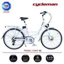 26 inch 250-750w , LED display , 24-month warranty ,fresh city electric bike