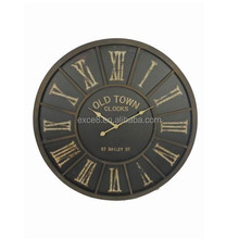 French antique decorative style metal wall clock for wholesale