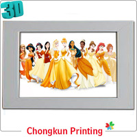3D lenticular printing 3d picture of beautiful girl without dress for gift