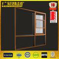 aleación de aluminio de la ventana de madera de diseño