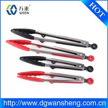 High quality silicone cooking food kitchen tongs with stainless steel handle