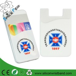 OEM Wholesale Promotional Silicone Mobile Pocket Smart Phone Wallet Soft Silicone Cell Phone Wallet