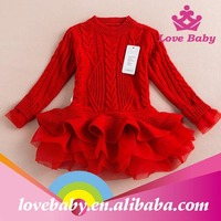 New arrival Hottest fashion cute red color baby sweater design for Christmas