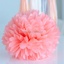"Colorful 8"" 10"" 12"" 14"" 16"" Tissue Paper Pom Poms for Wedding Birthday Decoration"