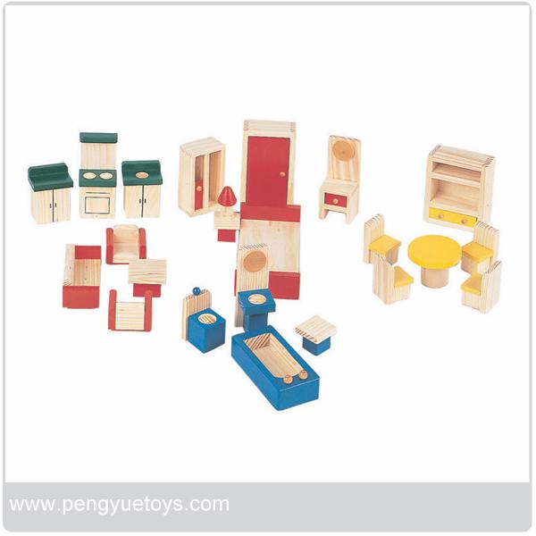 En bois miniature meubles pour maison de poup e jouets de for Meuble pour maison