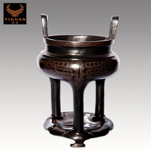 Unique Handmade black copper with silver silk burner