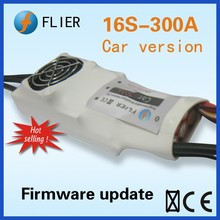 Car version fan cooling regulator 16S 300A ESC for RC Flier car