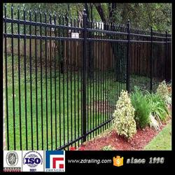 Cheap metal picket fence, iron modular metal fence, 4x4 galvanized square metal fence posts