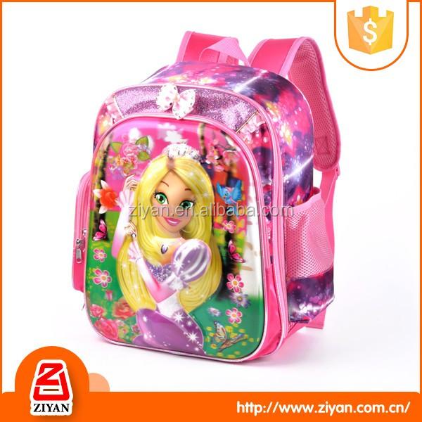 Mode de bonne qualité sac beau modèle rose nouveau design mignon sac d'école