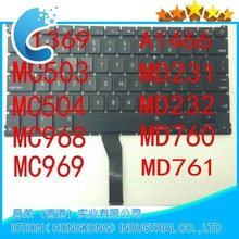 Brand New LAPTOP REPLACEMENT KEYBOARD FOR Macbook Air A1369 A1466 US keyboard 2011 2012 2013 2014 No backlight