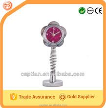 Mini metal table alarm clock spring