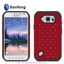 Silicone Bumper Phone Cases Covers For Samsung Galaxy S6 Active G890 Shockproof Shell