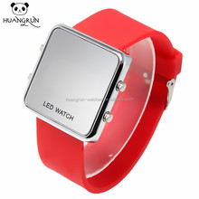 Wholesale square touch face digital sport led wrist watch for men