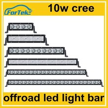 10w cree one row offroad led light bars for 4x4 driving for sale