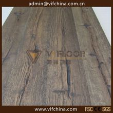 White washed hard smoked dark parquet with click