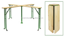 wooden beer table set /folding beer table set /outdoor wooden beer table/bench set