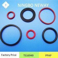 TS16949 Auto colorful rubber o ring silicone