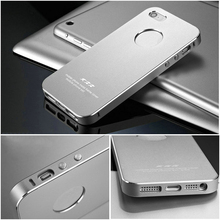 Desing for Your Iphone 5 5S Mobile Phone Metal Back Aluminum Case Bag