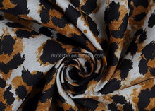 leopard-print rayon fabric/garment cloth/women's dress fabric/2015 new design fabric/