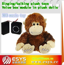 Provide EN71 stuffed music plush monkey toy