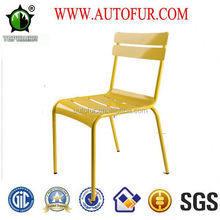 Colorful side strong durable Metal Stackable Outdoor Garden Chairs