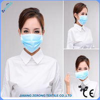Disposable 3 Ply Surgical nonwave Face Mask With Earloop