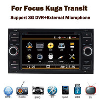 "7"" Touch Screen Car DVD Player for Ford Focus Kuga Transit with GPS Bluetooth Phonebook Radio RDS USB IPOD Steering wheel contro"
