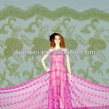 P2732 hot selling embroidery net fabric/french lace fabric/types of net fabric