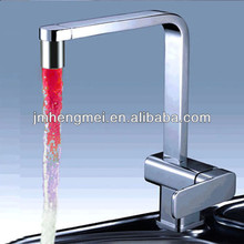 Top sell blue/red/green led faucet, mixers manufacturer for bathroom