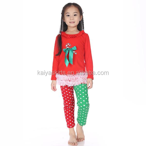 Christmas clothing sets baby girls hot chirstmas candy