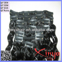 Most Popular Wholesale Price Virgin Remy Long Curly Clip In Human Hair Extension