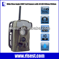 GSM MMS Hidden Motion Activated Cameras For hunting With Night Vision No Glow Wide View Angle Waterproof