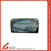 raised for customer's logo ,Acrylic Chrome ABS plastic License Plate Frame, american license plate holderfor bike ,car