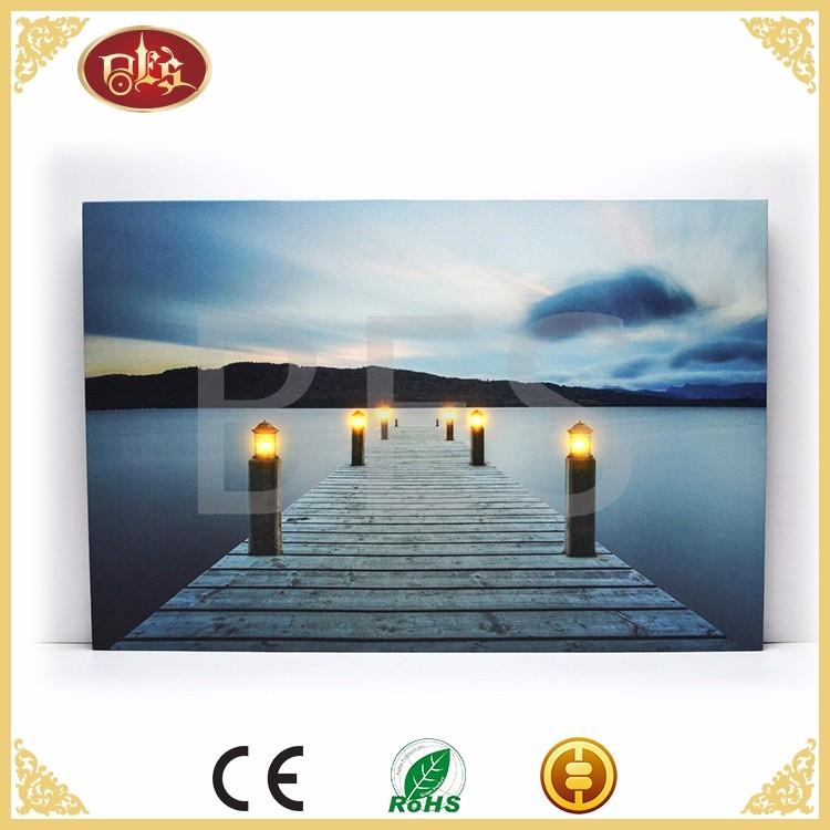BD29009-landscape canvas print with led