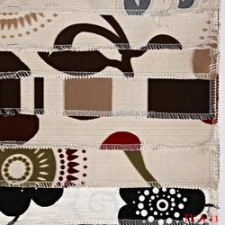 polyester digital printed flock fabric