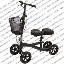Steerable Knee Walker / knee scooter with removeable Basket