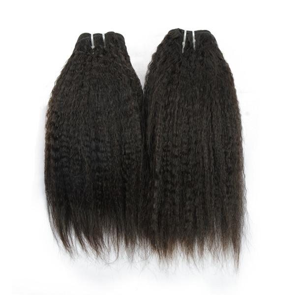 Usine Prix Grade 8A Kinky Droite Non Transformés Cheveux Brésiliens En Gros Vierge Cheveux Humains