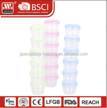 Food storage use Customized color blue yellow small plastic Containers