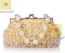 factory selling new 2012 Punk Style Acrylic embroider bead dinner bag clutch bag lady hand bag NO0139