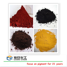 raw material iron oxide red yellow black pigment paint color for ceramic concrete tile