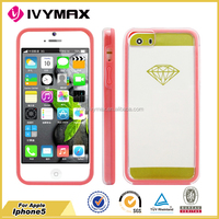 Hot selling protective case for iphone 5 wholesale 2 in 1 PC TPU cover