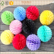 2015 wholesale outdoor field decor paper honeycomb ball