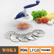Multi Blades Manual Vegetable Slicer Plastic Spiral Potato Slicer
