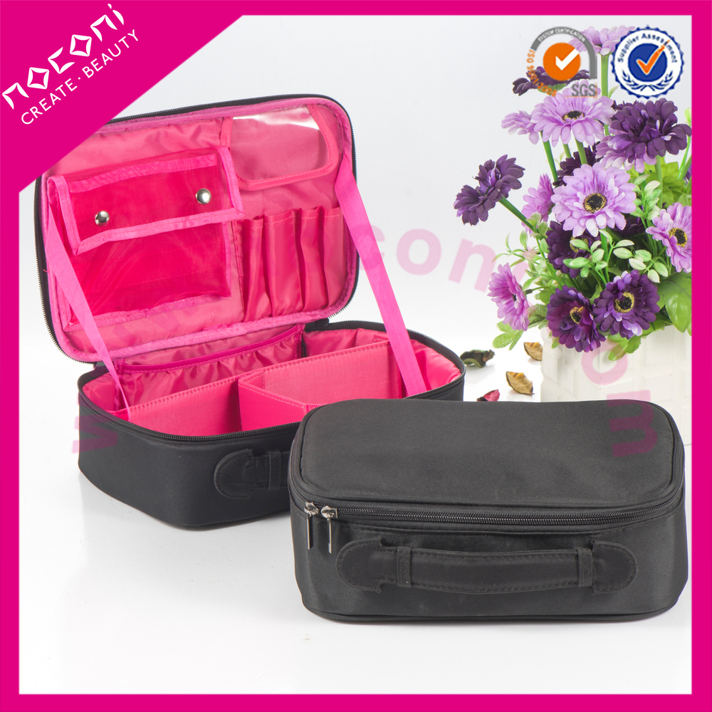 2015 new innovative product of latest products on market professional makeup brushes with leather bag
