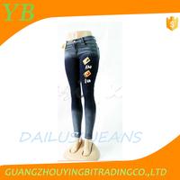 women sexy model overall denim in bulk skinny jeans