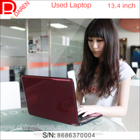 Wholesale Second hand 13.4 inch Dual core 3G RAM 250G Hard Drive laptop / used notebook with DVD RW Webcam
