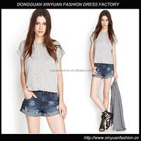 Distressed Cuffed Denim Shorts XYP2807