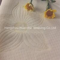 100%polyester yellow flower knitting fabric mattress manufacturers