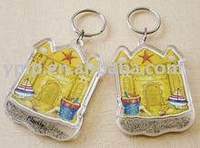2012 stylish design gift acrylic keychains with sand