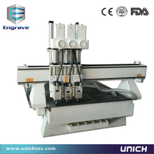 three process table top cnc router for wood MDF PVC man-made stone